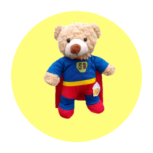 8 Inch Superheros Teddy Clothes