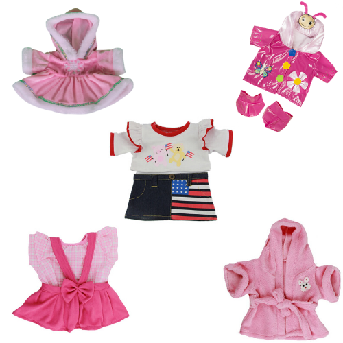 Bear Clothes Pink/Dress Selection - Party Pack - 16 inch
