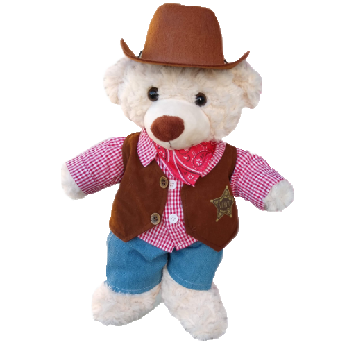 Ready to Play  - Cowboy Bear