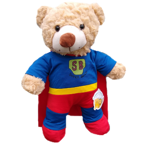 Ready to Play  - Superhero Brown Bear