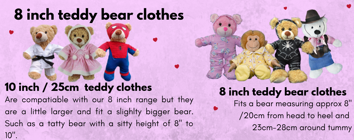 "NEW !!! TEDDY BEAR Unicorn Outfit CLOTHES Fit 8/""-10/"" Build-a-bear !!"